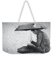Reading In The Rain - Umbrella Weekender Tote Bag