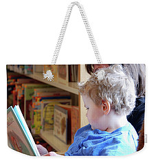 Reading Nurtures The Gardens Of The Mind Weekender Tote Bag by John Schneider