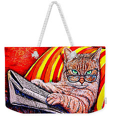 Reading Weekender Tote Bag by Viktor Lazarev