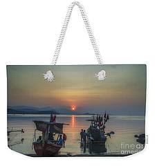 Ready For Night Fishing Weekender Tote Bag