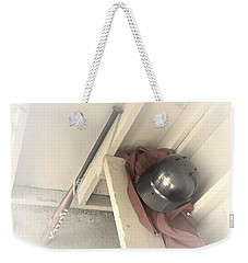 Weekender Tote Bag featuring the photograph Ready To Bat by Shana Rowe Jackson