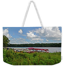 Weekender Tote Bag featuring the photograph Ready To Float by Linda Brown