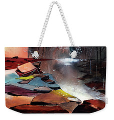 Weekender Tote Bag featuring the painting Ready To Leave by Anil Nene