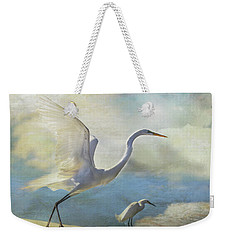 Weekender Tote Bag featuring the digital art Ready To Soar by Nicole Wilde