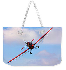 Weekender Tote Bag featuring the photograph Ready To Spray - Crop Duster - Ag Pilot - Arkansas Razorbacks by Jason Politte