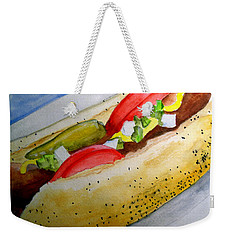 Real Deal Chicago Dog Weekender Tote Bag