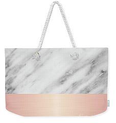 Real Italian Marble And Pink Weekender Tote Bag