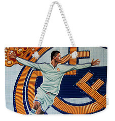 Real Madrid Painting Weekender Tote Bag by Paul Meijering