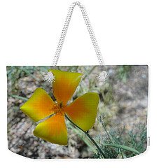 One Gold Flower Living Life In The Desert Weekender Tote Bag