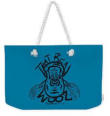 Real Wool Blue Weekender Tote Bag