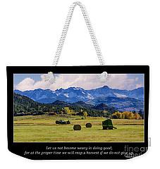 Reap A Harvest Weekender Tote Bag