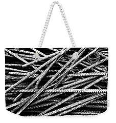 Rebar And Spring - Industrial Abstract  Weekender Tote Bag