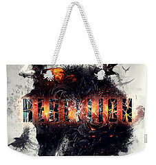 Weekender Tote Bag featuring the digital art Rebellion by Mo T