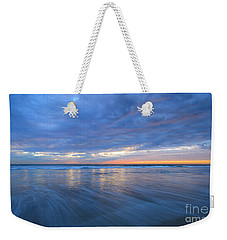 Weekender Tote Bag featuring the photograph Receding Waves Oceanside by John F Tsumas