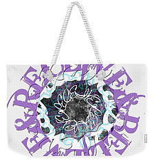 Receive And Believe In White Weekender Tote Bag