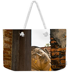 Reclining Buddha View Through A Window Weekender Tote Bag