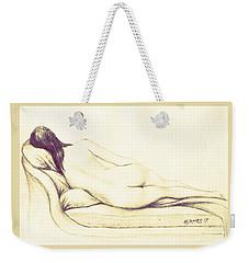 Reclining Nude Weekender Tote Bag by Edgar Torres