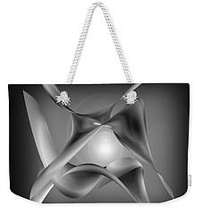 Weekender Tote Bag featuring the digital art Reclining Scarves  4 by Iris Gelbart