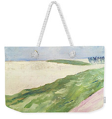 Weekender Tote Bag featuring the painting Recompense by Angela Annas