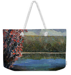 Weekender Tote Bag featuring the painting Recovery by Dottie Branchreeves