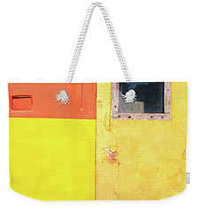 Weekender Tote Bag featuring the photograph Rectangles by Silvia Ganora