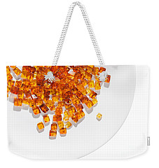 Weekender Tote Bag featuring the photograph Rectangular Stones Yellow Amber  by Andrey  Godyaykin