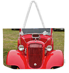 Weekender Tote Bag featuring the photograph Red 1990 by Guy Whiteley