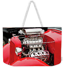 Weekender Tote Bag featuring the photograph Red 1992 by Guy Whiteley