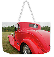 Weekender Tote Bag featuring the photograph Red 1994 by Guy Whiteley