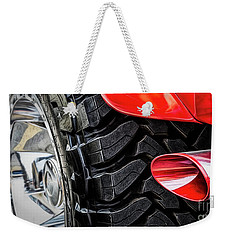 Weekender Tote Bag featuring the photograph Red 4x4 by Brad Allen Fine Art