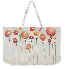 Red Abstract Floral Weekender Tote Bag