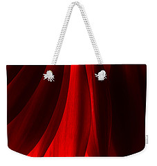 Red Abstract Of Chrysanthemum Wildflower Weekender Tote Bag