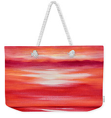 Red Abstract Sunset Weekender Tote Bag