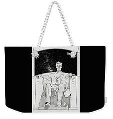 Weekender Tote Bag featuring the drawing Red Alert by John Haldane
