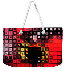 Weekender Tote Bag featuring the digital art Red Alert by Shawna Rowe