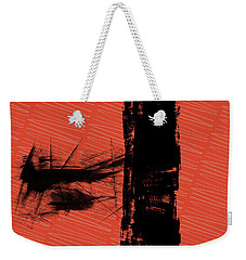 Red And Black Allover Abstract Weekender Tote Bag by Kandy Hurley