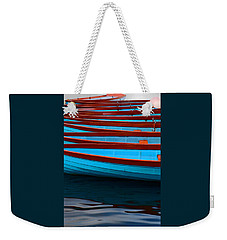 Red And Blue Paddle Boats Weekender Tote Bag