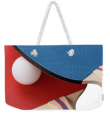 Red And Blue Ping Pong Paddles - Closeup Weekender Tote Bag