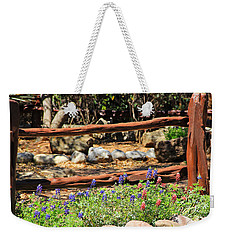 Red And Bluebonnets Weekender Tote Bag