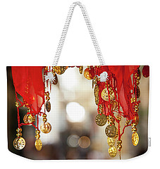 Red And Gold Entrance To Market Weekender Tote Bag