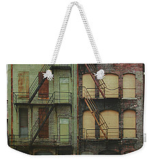 Weekender Tote Bag featuring the digital art Red And Green by Christopher Meade