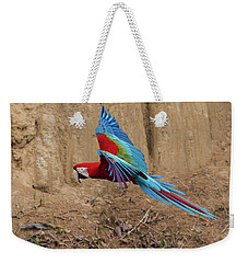 Red-and-green Macaw Weekender Tote Bag