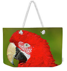 Weekender Tote Bag featuring the photograph Red And Green by Tony Beck