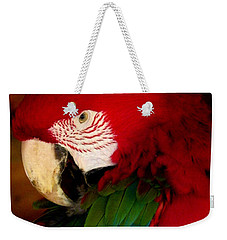 Red And Green Wing Macaw Weekender Tote Bag