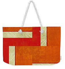 Red And Orange Square Study Weekender Tote Bag