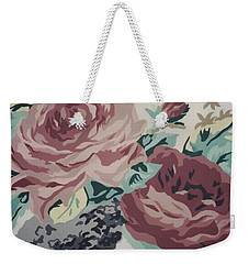 Red And Pink Flowers Weekender Tote Bag