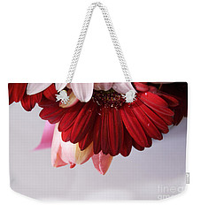 Red And Pink Gerberas And Tulips Weekender Tote Bag by Cindy Garber Iverson