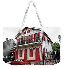 Red And Tan House Weekender Tote Bag