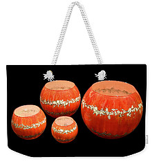 Red And White Bowls Weekender Tote Bag