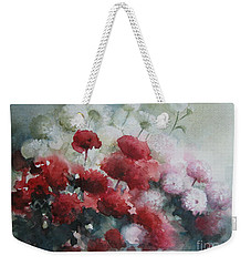 Red And White Flowers Weekender Tote Bag